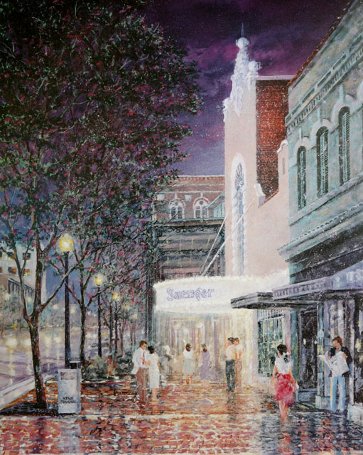 Acrylic Painting of the Saenger 	Theater, Pensacola, FL
