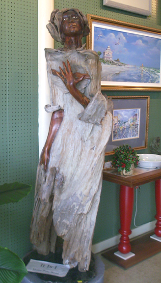 Wooden sculpture of an Angel